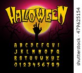 halloween font  letters and... | Shutterstock .eps vector #479625154