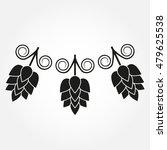hops flowers or strobiles. hop...   Shutterstock .eps vector #479625538