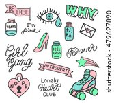set of stickers  pins  patches... | Shutterstock .eps vector #479627890