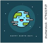 happy smiley face earth day... | Shutterstock .eps vector #479631919