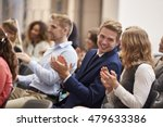 audience applauding speaker... | Shutterstock . vector #479633386