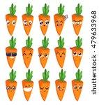 carrots set of funny smiles.... | Shutterstock .eps vector #479633968