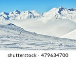 snowboarder riding down the... | Shutterstock . vector #479634700