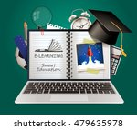 elearning   smart online... | Shutterstock .eps vector #479635978