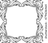 baroque frame isolated on white | Shutterstock .eps vector #479636464