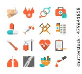 medical icons vector set | Shutterstock .eps vector #479641858