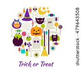 trick or treat objects over... | Shutterstock .eps vector #479643508