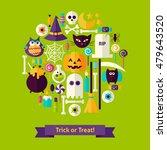trick or treat halloween...   Shutterstock .eps vector #479643520