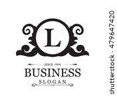 emblem letter l logo. vintage... | Shutterstock .eps vector #479647420