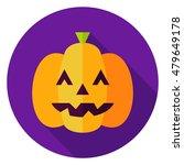 jack o lantern pumpkin circle... | Shutterstock .eps vector #479649178