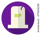 rip tombstone circle icon. flat ...   Shutterstock .eps vector #479656258