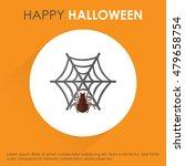 halloween spider net icon.... | Shutterstock .eps vector #479658754