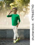 stylish little boy in... | Shutterstock . vector #479660740