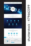 one page website design  with... | Shutterstock .eps vector #479662399