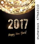 happy new year 2017 card  | Shutterstock .eps vector #479663110