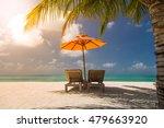beautiful turquoise sea ... | Shutterstock . vector #479663920