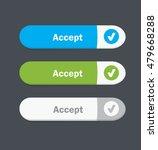 set of vector web interface... | Shutterstock .eps vector #479668288