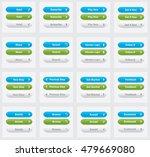 set of vector web interface... | Shutterstock .eps vector #479669080
