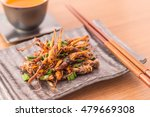 fried insects   wood worm... | Shutterstock . vector #479669308