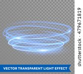 Vector Blue Circle Light Line...