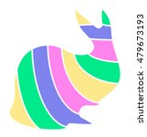 colorful rabbit abstract... | Shutterstock .eps vector #479673193