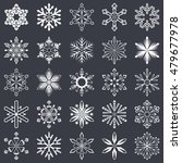 set of vector snowflakes shapes ... | Shutterstock .eps vector #479677978