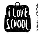 silhouette school backpack with ... | Shutterstock .eps vector #479678494