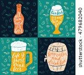 set of 4 hand lettering phrases ... | Shutterstock .eps vector #479682040