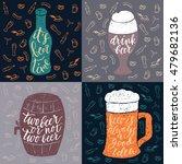 set of 4 hand lettering phrases ... | Shutterstock .eps vector #479682136