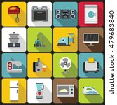 household appliances icons set... | Shutterstock . vector #479683840