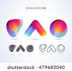 vector glossy design logo...   Shutterstock .eps vector #479685040