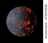 planet alien hot on black... | Shutterstock . vector #479692030