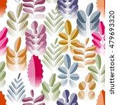 seamless pattern. flora. vector ... | Shutterstock .eps vector #479693320