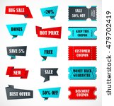 vector stickers  price tag ... | Shutterstock .eps vector #479702419