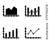 set of statistics icons on...