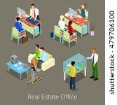 isometric real estate office.... | Shutterstock .eps vector #479706100