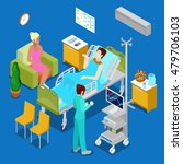 isometric hospital room with... | Shutterstock .eps vector #479706103