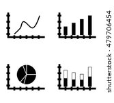 set of statistics icons on pie...