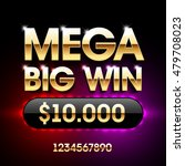 mega big win banner for lottery ... | Shutterstock .eps vector #479708023