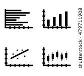 set of statistics icons on...