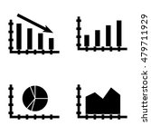 set of statistics icons on area ...