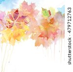 watercolor autumn background. | Shutterstock . vector #479712763