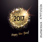 new year card with glittering... | Shutterstock .eps vector #479715226