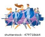 ballroom dancing couples.... | Shutterstock .eps vector #479718664