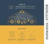 flat line design concept of...