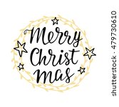 merry christmas greeting card.... | Shutterstock .eps vector #479730610