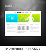 web site design template ... | Shutterstock .eps vector #47973373