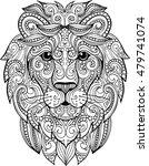 hand drawn doodle zentangle... | Shutterstock .eps vector #479741074