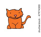 cat drawing | Shutterstock .eps vector #47974300