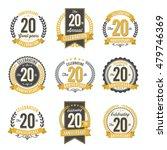 set of vintage anniversary... | Shutterstock .eps vector #479746369